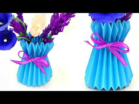 How To Make A Paper Flower Vase Diy Easy And Simple Way Paper