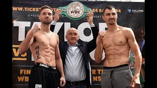 Viktor Postol vs. Josh Taylor Hit The Scales
