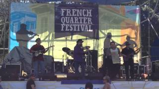 """chicken Legged Woman"" Waylon Thibodeaux Band @ The French Quarter Fest,new Orleans 4-10-2014"