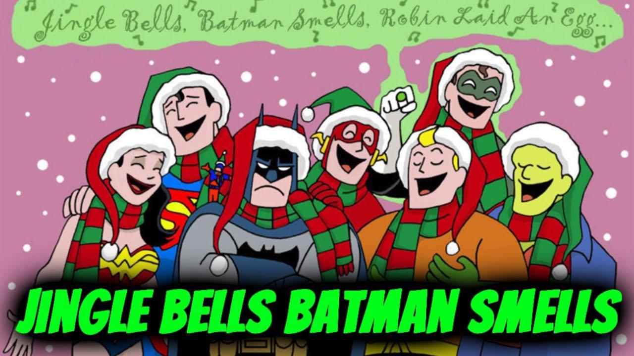Merry Christmas Batman Meme.Jingle Bells Batman Smells A Christmas Parody