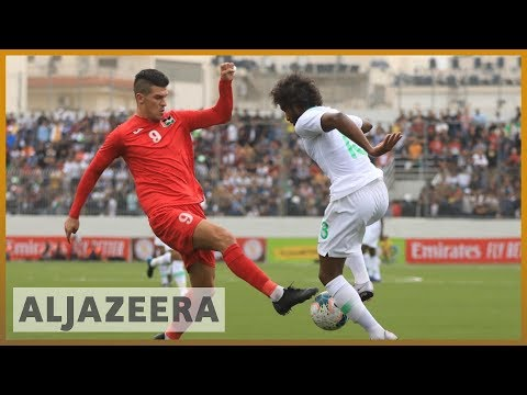 Saudi football team criticised for occupied West Bank match