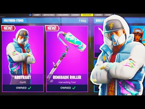 "NEW ""Abstrakt SKIN + Renegade Roller AXE"" in Fortnite! - NEW SKIN UPDATE! - Fortnite Battle Royale thumbnail"