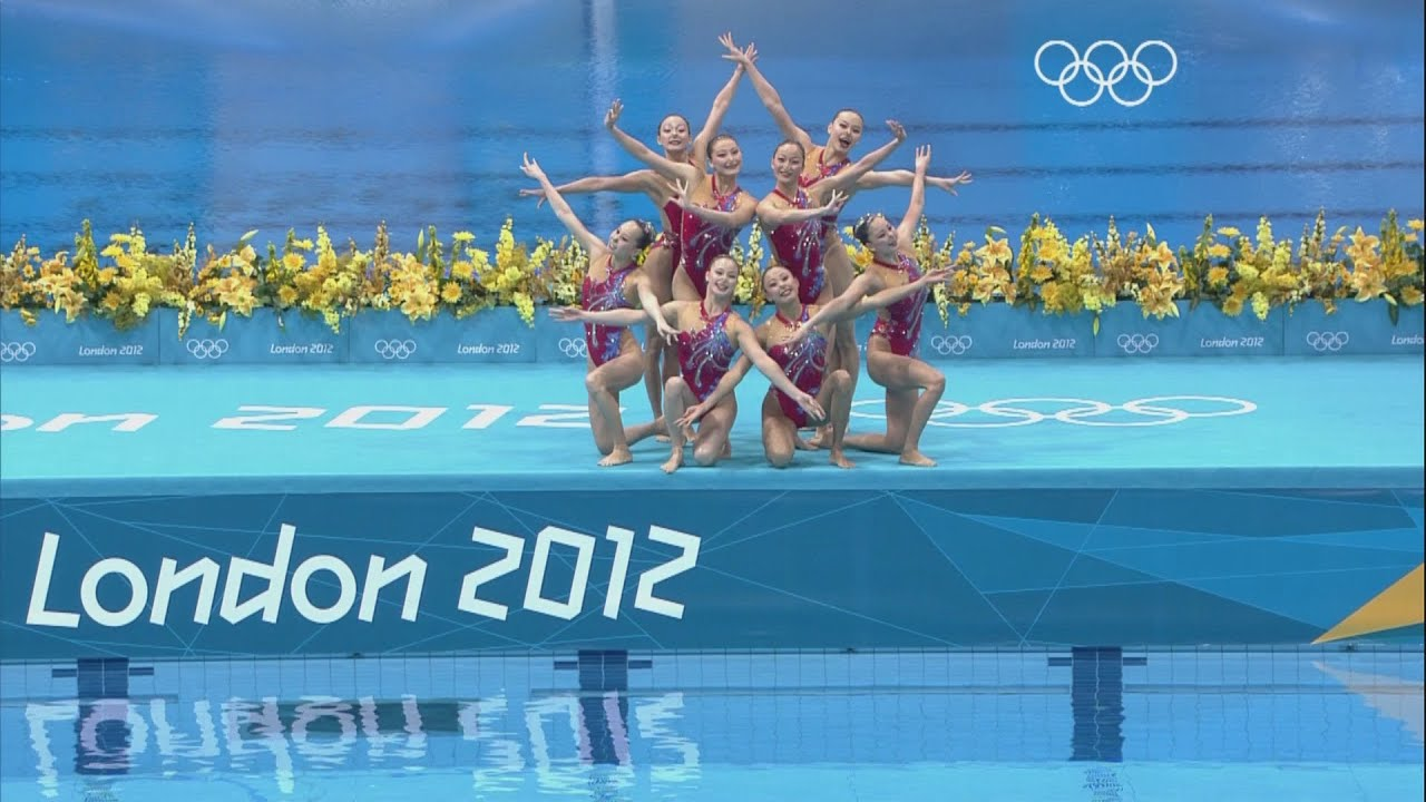 Olympic Swimming Pool 2012. Synchronized Swimming Teams Technical Routine    London 2012 Olympics Youtube Olympic