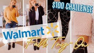 WALMART Fall TRY-ON Haul | $100 Challenge
