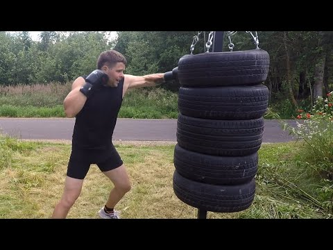 Tire punching bag (How to make) - YouTube