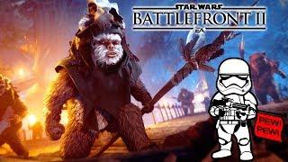 Star Wars Battlefront 2 - Caçada dos Ewoks - Uma Noite em Endor!!! [ PC - Gameplay ]