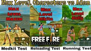 Max level characters vs Adam, skills tests of Maxim, Nikita, Kelly, Andrew By DEATH RAIDER GAMING
