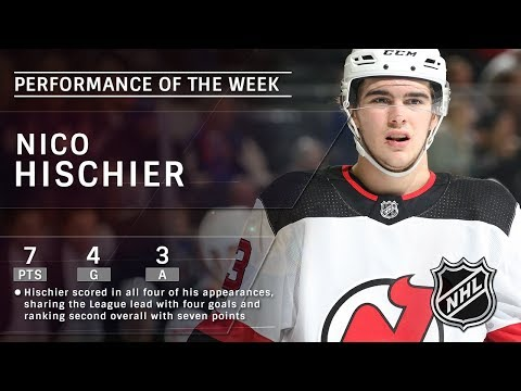Devils' Nico Hischier is the NHL Star of the Week: Feb 18, 2017