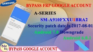 How To Bypass FRP Google Account A-Series A9 Pro (SM-A910F) Securir...