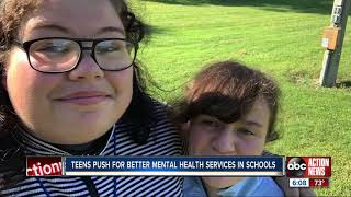 Teens push for better mental health services in schools