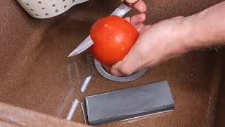 Как заточить нож быстро и без приспособлений