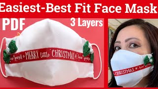 206 How To Sew The Best Fit Simple 3D Face Mask With Filter Pocket The Twins Day Face Masks