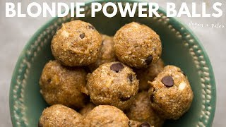 Blondie Power Balls (vegan + paleo + no bake!)