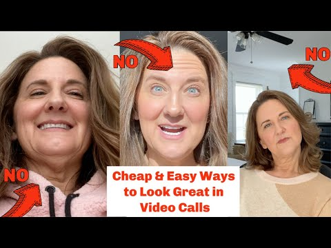 Cheap Ways to Look Great on Video Calls // Zoom Skype
