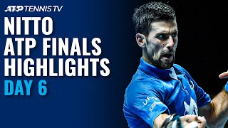 Djokovic v Zverev; Medvedev v Schwartzman | Nitto ATP Finals 2020 Highlights Day 6