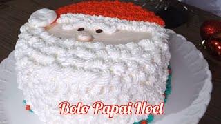 BOLO DE NATAL DO PAPAI NOEL - Maratona dos Bolos de Natal - Bolo Papai Noel #natal