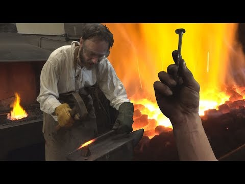 My apprenticeship as a blacksmith - forging a nail