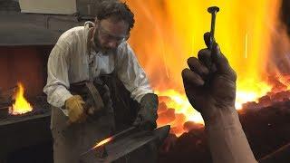 My apprenticeship as a blacksmith - forging a nail