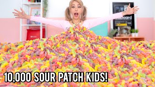 Mixing 10,000 Sour Patch Kids Into One Giant Sour Patch Kid!