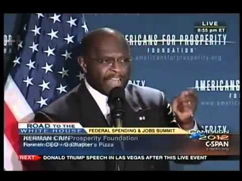 Herman Cain Speaks at the AFP New Hampshire Presidential Forum