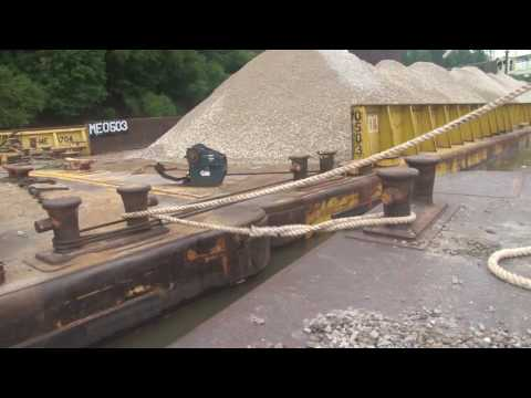 Tying Off a Barge with Pilot Andy Cross of Mulzer Crushed Stone, Inc.