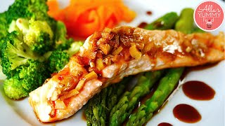 Honey Glazed Salmon Recipe -Запеченный лосось в медово-соевом соусе