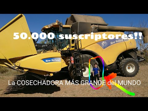50.000 SUSCRIPTORES!! Subimos a la COSECHADORA MÁS GRANDE DEL MUNDO
