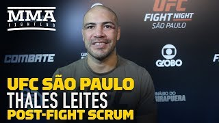 UFC Sao Paulo: Thales Leites Discusses Why He Knew It Was The Right Time to Retire - MMA Fighting
