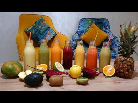 smoothie-&-jus-de-fruits-recette-pour-l'été-عصير-فواكه-او-سموتي-بدون-سكر-صحي-و-منعش