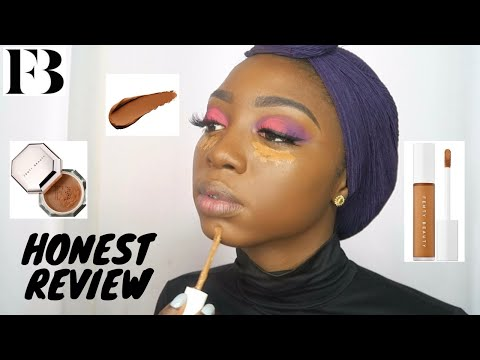 NEW FENTY BEAUTY CONCEALER + SETTING POWDER REVIEW | 10-Hr Wear Test, Juvia's Place Eyeshadow