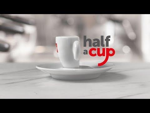 Half a cup. International Coffee Day 2018