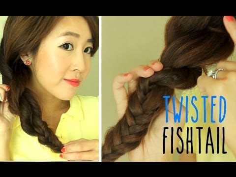 Hairstyle for School: Twisted Fishtail Braid
