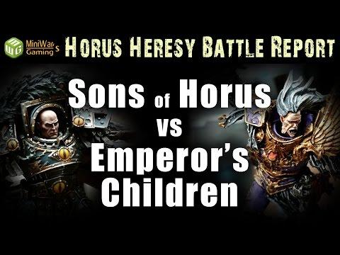 Betrayal at Istvaan III (Sons of Horus vs Emperor's Children) - Horus Heresy Battle Report Ep 1