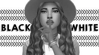 BLACK & WHITE CAS CHALLENGE 🖤 | Sims 4 Create A Sim