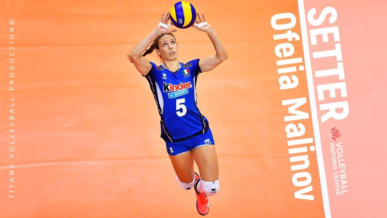 Ofelia Malinov Amazing Volleyball Setter Sets Spikes Blocks Women S Vnl 2019 Youtube