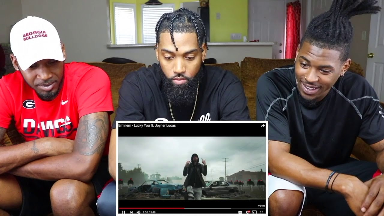 Eminem lucky you ft joyner lucas reaction youtube eminem m4hsunfo