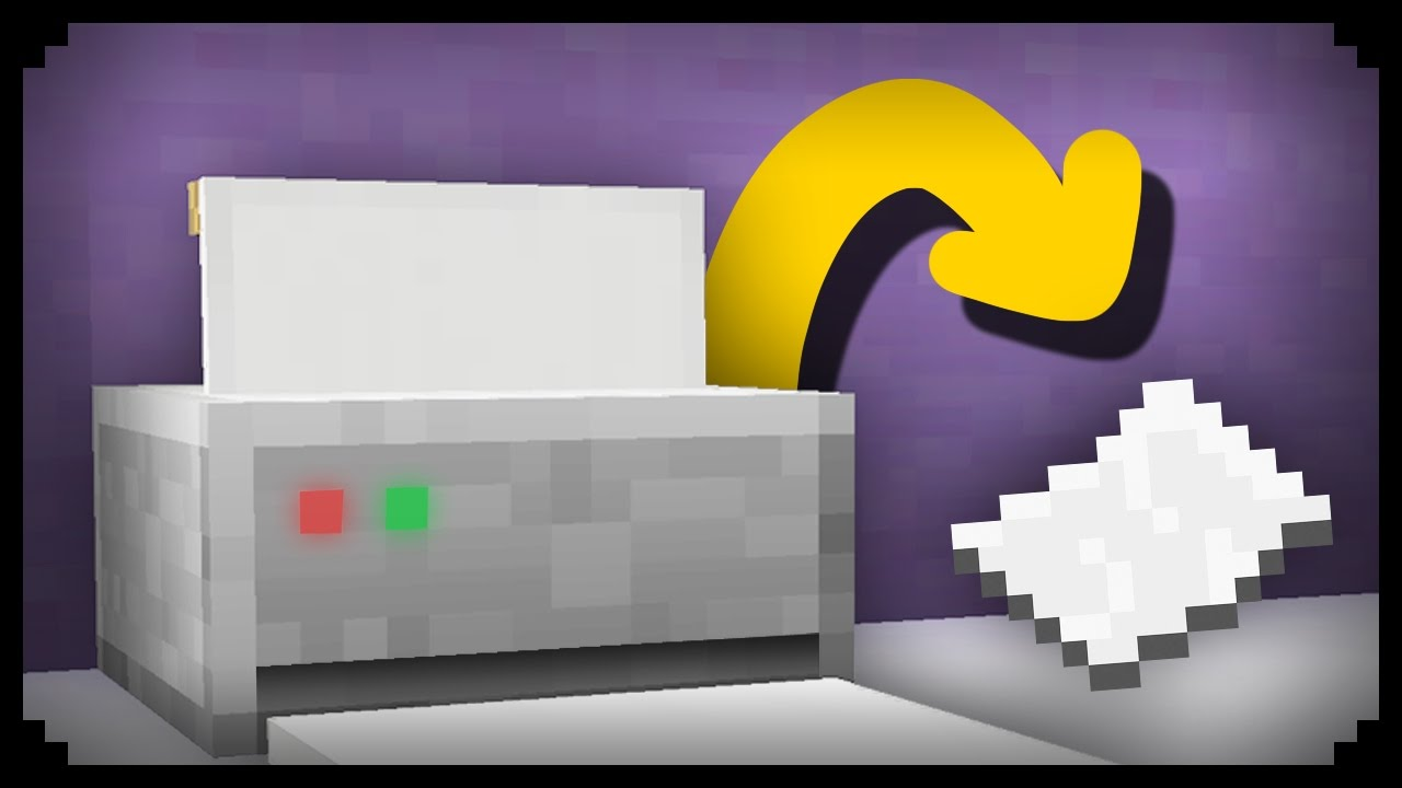 Minecraft How To Make A Working Printer Youtube