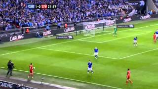 First Half - Carling Cup Final - Cardiff v. Liverpool - 26-02-12