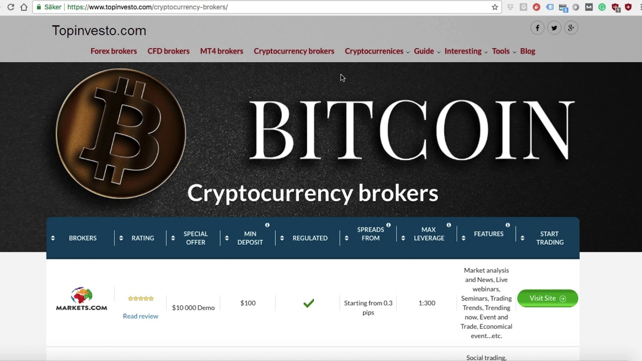 best cfd broker cryptocurrency