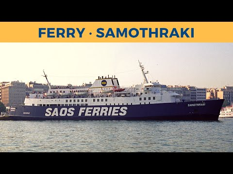 Boarding and departure of ferry SAMOTHRAKI in Piraeus