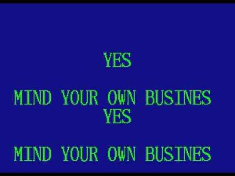 SAVA04 07   Williams, Hank Jr    Mind Your Own Business [karaoke]