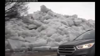'''ICE TSUNAMI 30 FEET''' HIGH AMAZING PLEASE WATCH