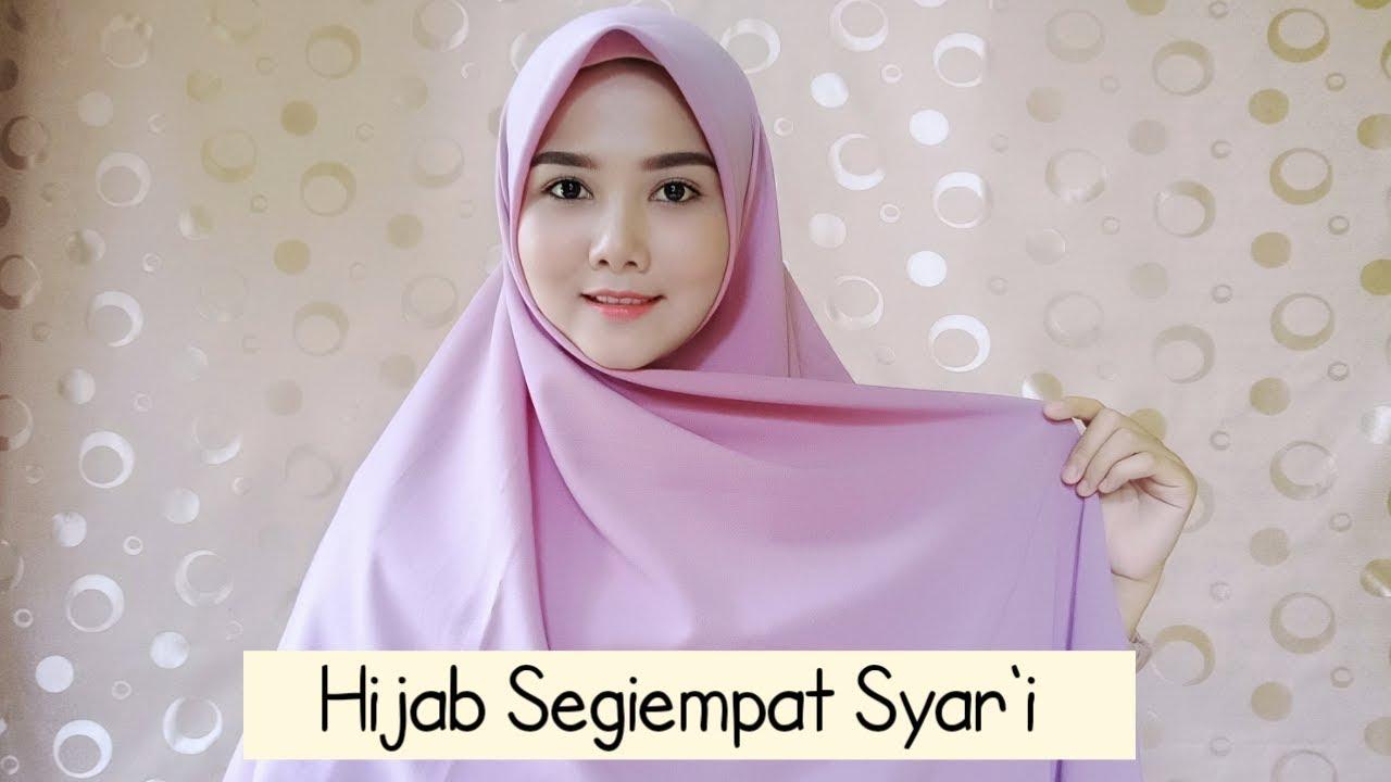 Tutorial Hijab Segi Empat Syar I Menutup Dada Fara Cahya P Youtube