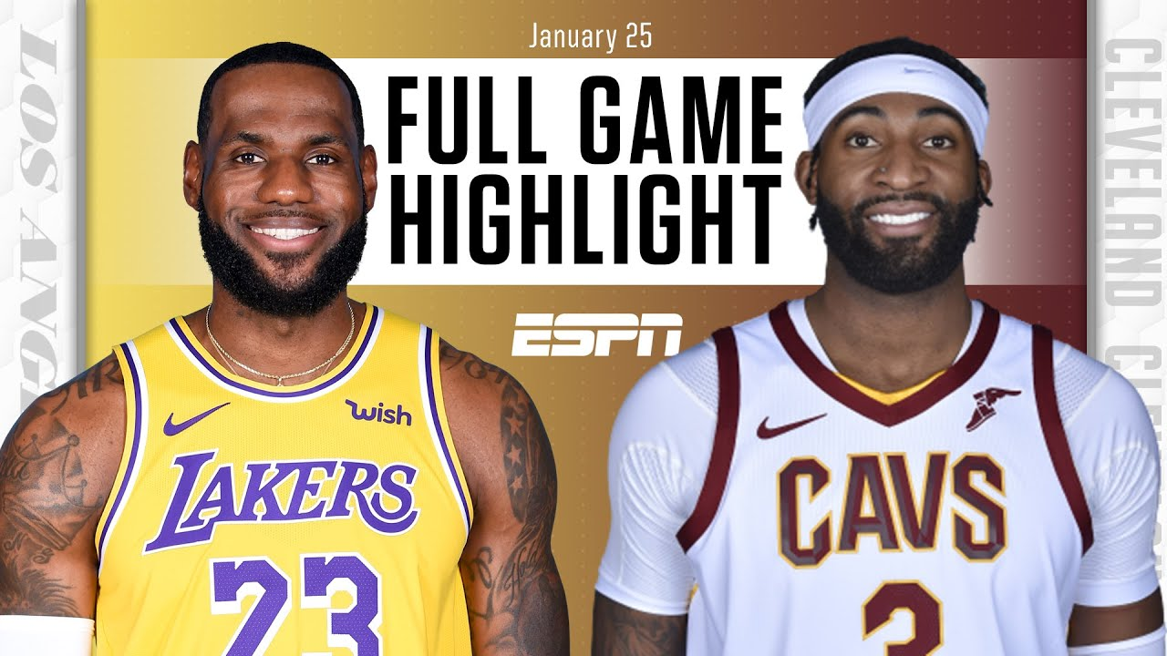 Lakers vs. Cavaliers - Game Recap - January 25, 2021 - ESPN