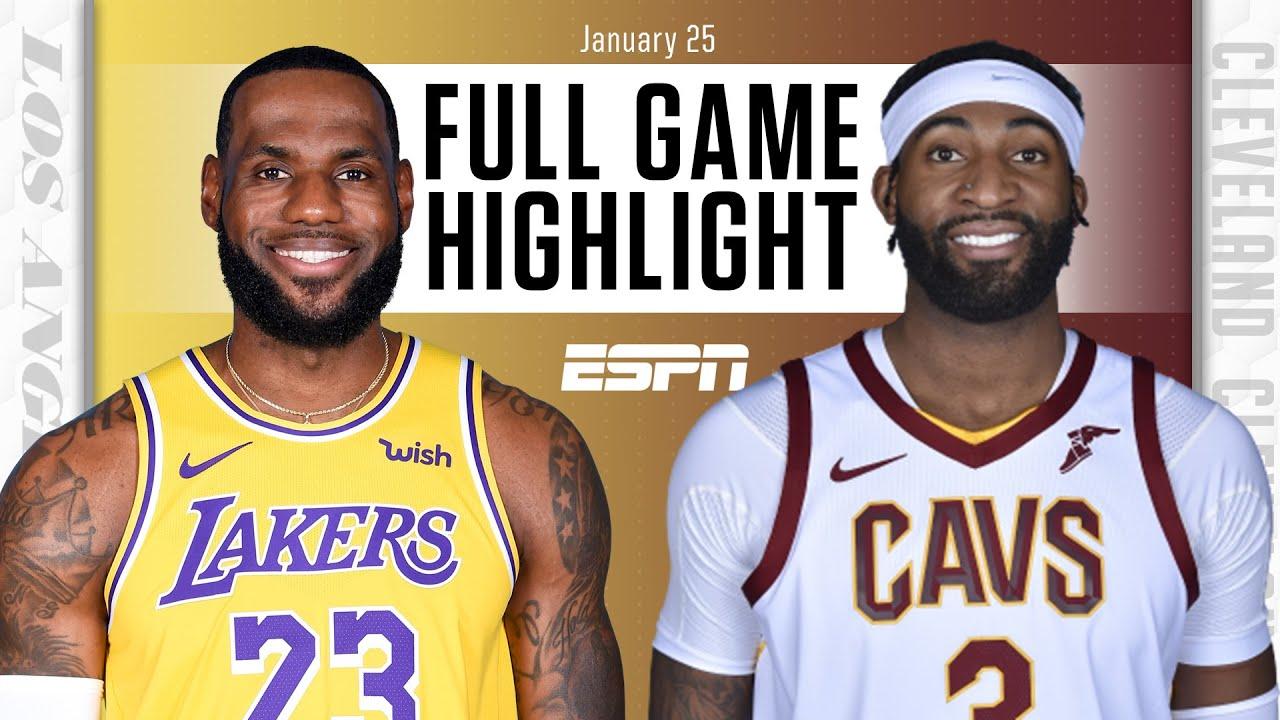 Lakers vs. Cavaliers - Game Recap - January 25, 2021 - ESPN