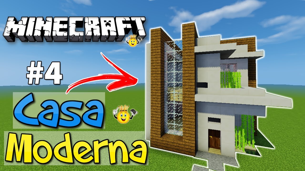 Como fazer casa moderna minecraft pe pc ps4 xbox 4 for Casa moderna minecraft pe 0 10 4