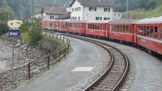 Switzerland: Travelling on the Bernina Railway, Poschiavo to Brusio