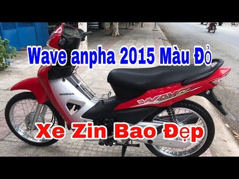 Bán Xe Wave Anpha 2015 Màu Đỏ Bao Zin - Chuyên Xe Cũ Tiền Giang