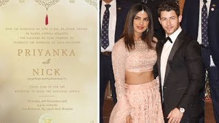 Priyanka Chopra And Nick Jonas Mumbai Reception Invite Revealed | Bollywood Gossips 2018 English