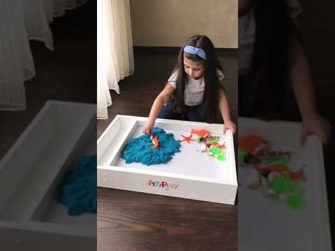 Art Light Activity Box Art & Play!  Sensory play with sand at home!